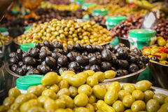 Olives at a market stall Stock Images