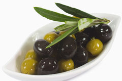 Olives in oil Royalty Free Stock Photos