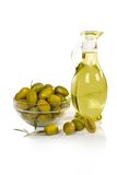Olives and oil Royalty Free Stock Image