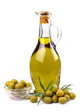 Olives and oil close up Royalty Free Stock Photo