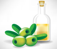 Olives and olive glass Stock Image