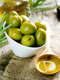 Olives and Olive Oil Stock Photography