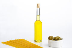 Olives And Olive OIL. royalty free stock photos