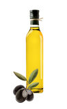 Olives and Olive Oil Bottle Royalty Free Stock Photos