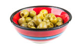 Olives over white background Stock Image