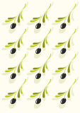 Olives pattern Royalty Free Stock Images