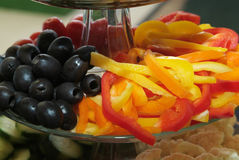 Olives and Peppers Royalty Free Stock Images