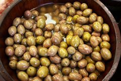 Olives, pickled vegetables Royalty Free Stock Photography