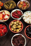 Olives and pickled vegetables Royalty Free Stock Image