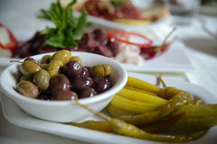 Olives and Pickles Royalty Free Stock Image