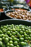 Olives in pickling brine background texture Stock Image