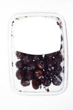 Olives in plastic box surface Royalty Free Stock Image