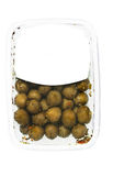 Olives in plastic box surface Stock Images