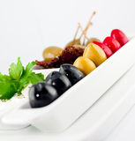Olives plate Stock Image