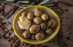 Olives in a plate Royalty Free Stock Photos