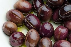 Olives prepared in oil and Venegar Royalty Free Stock Photo