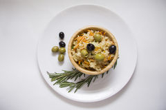 Olives and rice Royalty Free Stock Photos
