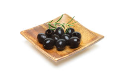 Olives with rosemary Stock Photography
