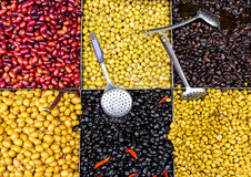 Olives for sale Royalty Free Stock Photos