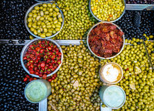 Olives for sale Stock Images