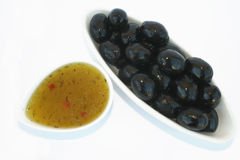 Olives and sauce Stock Photo