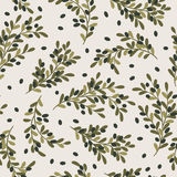 Olives seamless pattern Royalty Free Stock Photo