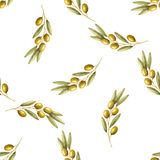 Olives seamless pattern Royalty Free Stock Image