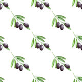 Olives seamless pattern Royalty Free Stock Photography
