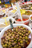 Olives in shop Stock Photography