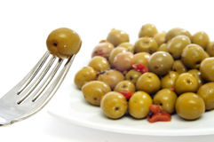 Olives spanish tapa Stock Image