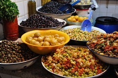 Olives Stall in Morocco Stock Photography