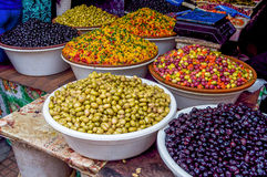 Olives. Store olive morocco Local products Royalty Free Stock Photo