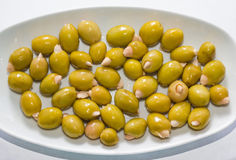 Olives stuffed with almond 2 Stock Photography