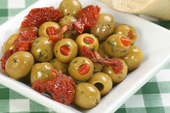 Olives stuffed with pimento Stock Photography