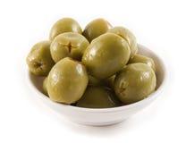 Olives sur le blanc Photos libres de droits