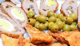 Olives sur le menu Image libre de droits