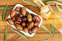 Olives on table Stock Image