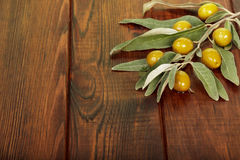 Olives on table Royalty Free Stock Image