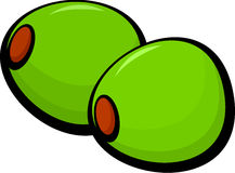 Olives vector illustration. Vector illustration of a pair of olives Royalty Free Stock Images