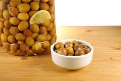 Olives vertes Image stock