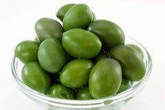 Olives vertes Photographie stock libre de droits