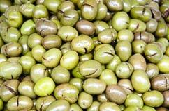 Olives vertes Images libres de droits