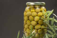 Olives vertes Photos libres de droits