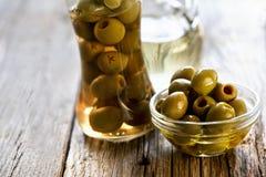 olives vertes fraîches Images stock