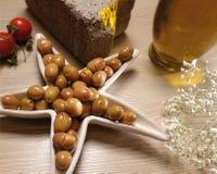 Olives vertes organiques naturelles Image libre de droits