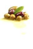 Olives on white Stock Photos