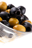 Olives in wine glass Stock Image