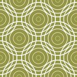 Olivgrön vit geometrisk prydnad för gräsplan och seamless modell stock illustrationer