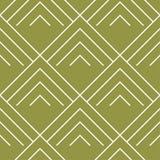 Olivgrün- und weißegeometrische Verzierung Nahtloses Muster Stockfotos