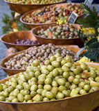 Olivgrüne Bildschirmanzeige Stockfoto